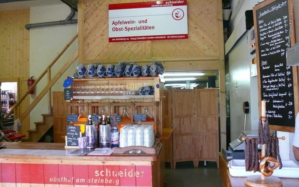 Schoppenwirtschaft Tresen Obsthof am Steinberg