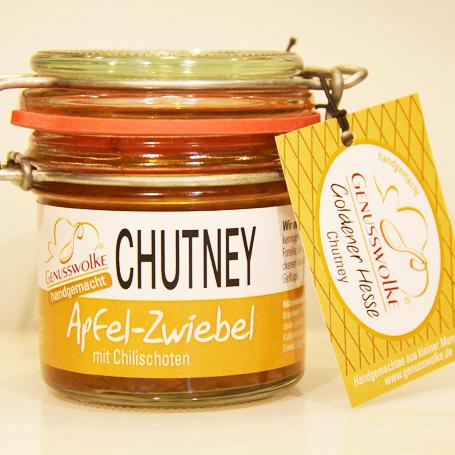 Genusswolke Apfel-Zwiebel-Chutney mit Chillischoten