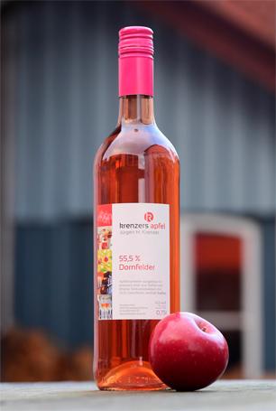 Apfeltischwein mit 55,5% Dornfelder von Krenzer