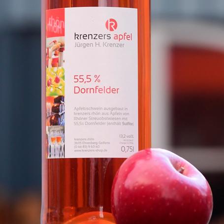 Apfelwein mit 55,5% Dornfelder von Krenzer