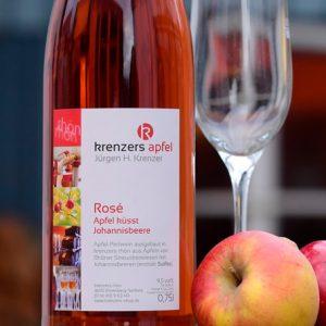 Apfelperlwein Rosé halbtrocken