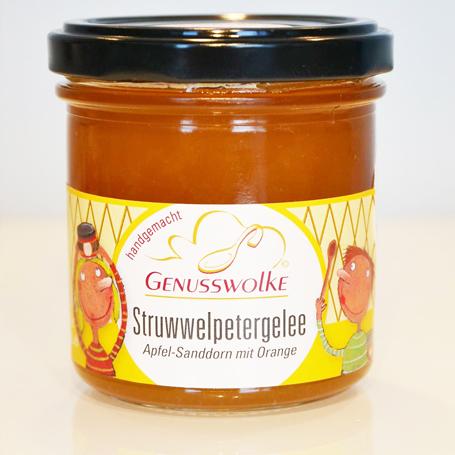 Genusswolke Struwwelpetergelee Apfel-Sanddorn mit Orange