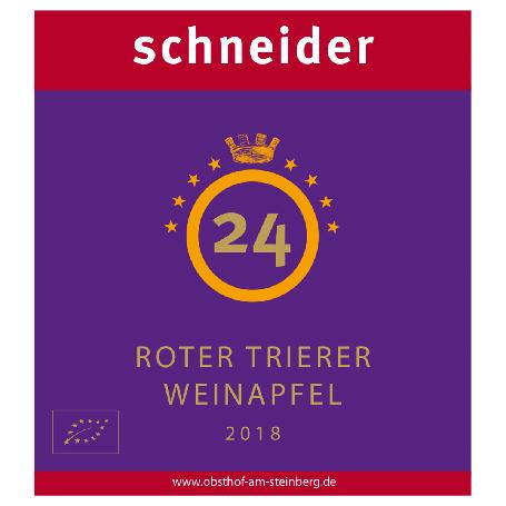 Apfel Cidre Roter Trierer Weinapfel Etikett